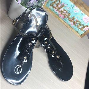 Kate Spade ♠️ Black jelly sandals 💗
